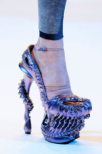 Alexander McQueen Purple Shoes