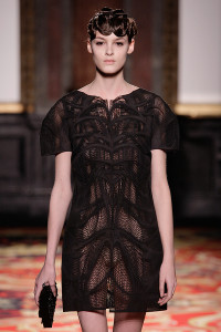 "Iris van Herpen ""Voltage"" Jan '13 3D printed Black Dress"