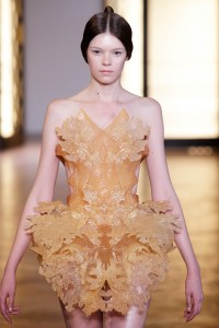 "Iris van Herpen ""Liquid Honey Dress"" July '12 3D printed dress"