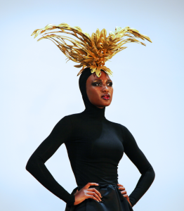 AVEDA Congress 2013 gold headpiece
