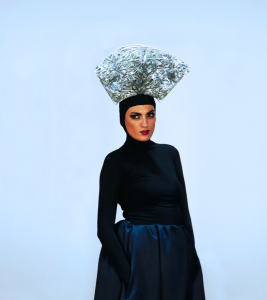AVEDA Congress silver headpiece